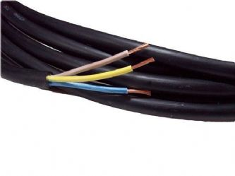 10metre cutting of 3 core 1.5mm H07RN-F rubber flexible cable